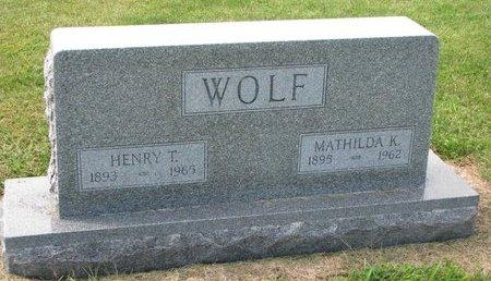 WOLF, HENRY T. - Washington County, Nebraska | HENRY T. WOLF - Nebraska Gravestone Photos
