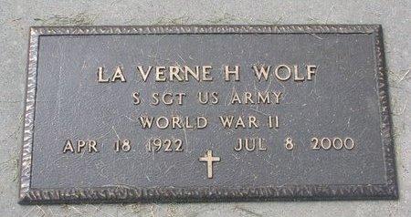WOLF, LAVERNE H. (MILITARY) - Washington County, Nebraska | LAVERNE H. (MILITARY) WOLF - Nebraska Gravestone Photos