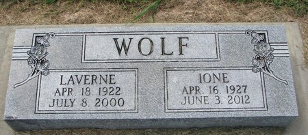WOLF, IONE - Washington County, Nebraska | IONE WOLF - Nebraska Gravestone Photos