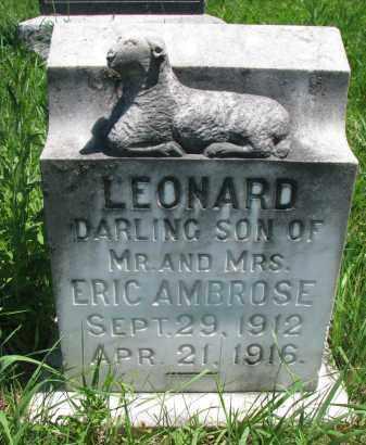 AMBROSE, LEONARD - Wayne County, Nebraska   LEONARD AMBROSE - Nebraska Gravestone Photos