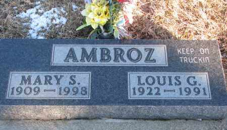 AMBROZ, MARY S. - Wayne County, Nebraska | MARY S. AMBROZ - Nebraska Gravestone Photos