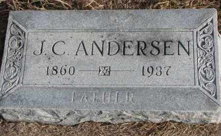 ANDERSEN, J.C. - Wayne County, Nebraska   J.C. ANDERSEN - Nebraska Gravestone Photos