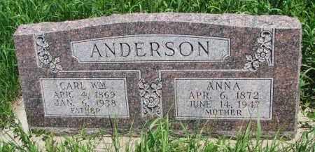 ANDERSON, ANNA - Wayne County, Nebraska | ANNA ANDERSON - Nebraska Gravestone Photos