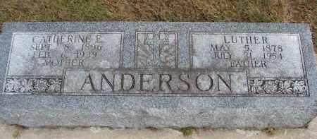 ANDERSON, CATHERINE E. - Wayne County, Nebraska | CATHERINE E. ANDERSON - Nebraska Gravestone Photos