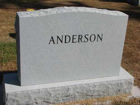 ANDERSON, FAMILY STONE - Wayne County, Nebraska | FAMILY STONE ANDERSON - Nebraska Gravestone Photos