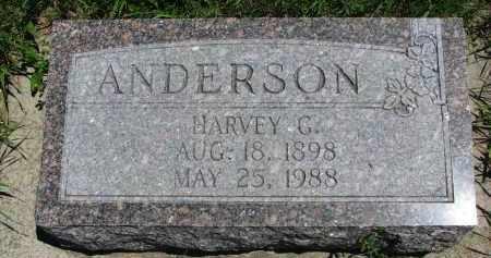ANDERSON, HARVEY G. - Wayne County, Nebraska | HARVEY G. ANDERSON - Nebraska Gravestone Photos