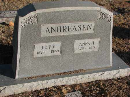 ANDREASEN, ANNA H. - Wayne County, Nebraska | ANNA H. ANDREASEN - Nebraska Gravestone Photos