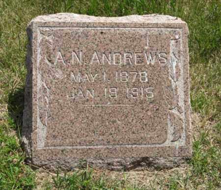 ANDREWS, A. N. - Wayne County, Nebraska | A. N. ANDREWS - Nebraska Gravestone Photos