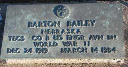 BAILEY, BARTON - Wayne County, Nebraska | BARTON BAILEY - Nebraska Gravestone Photos