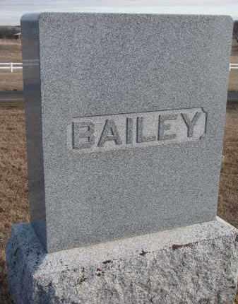 BAILEY, FAMILY STONE - Wayne County, Nebraska   FAMILY STONE BAILEY - Nebraska Gravestone Photos