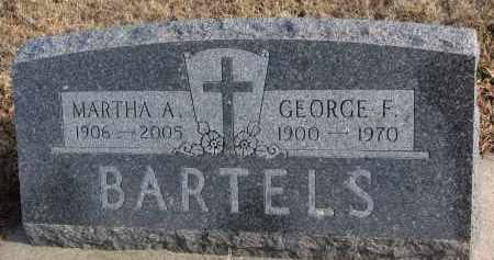 BARTELS, GEORGE F. - Wayne County, Nebraska | GEORGE F. BARTELS - Nebraska Gravestone Photos