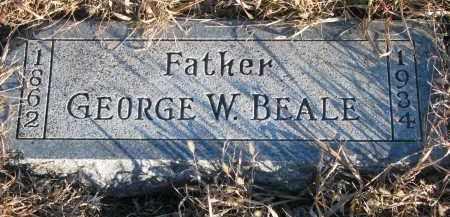 BEALE, GEORGE W. - Wayne County, Nebraska | GEORGE W. BEALE - Nebraska Gravestone Photos