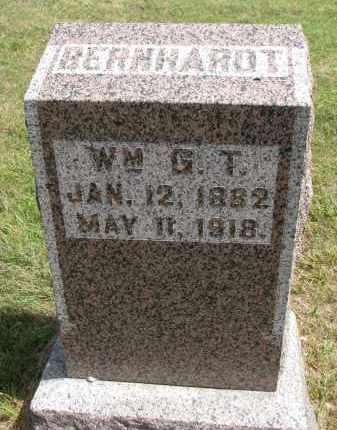 BERNHARDT, WM. G.T. - Wayne County, Nebraska | WM. G.T. BERNHARDT - Nebraska Gravestone Photos