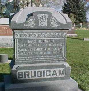 BRUDIGAM, MAX HEINRICH - Wayne County, Nebraska | MAX HEINRICH BRUDIGAM - Nebraska Gravestone Photos