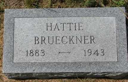 BRUECKNER, HATTIE - Wayne County, Nebraska | HATTIE BRUECKNER - Nebraska Gravestone Photos