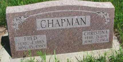 CHAPMAN, CHRISTINA - Wayne County, Nebraska | CHRISTINA CHAPMAN - Nebraska Gravestone Photos