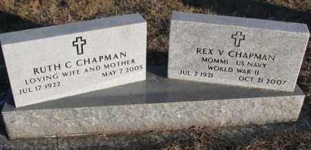 CHAPMAN, REX V. - Wayne County, Nebraska | REX V. CHAPMAN - Nebraska Gravestone Photos