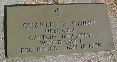 CHINN, CHARLES R, WW1 MARKER - Wayne County, Nebraska   WW1 MARKER CHINN, CHARLES R - Nebraska Gravestone Photos