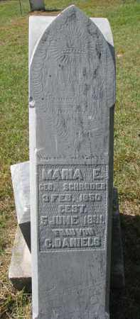 DANIELS, MARIA E. - Wayne County, Nebraska | MARIA E. DANIELS - Nebraska Gravestone Photos
