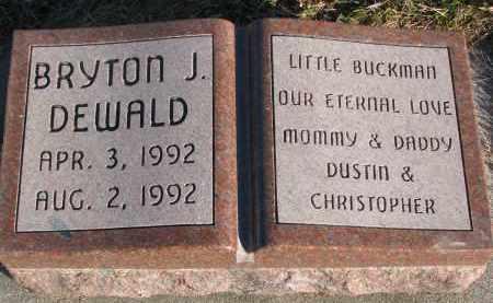 DEWALD, BRYTON L. - Wayne County, Nebraska | BRYTON L. DEWALD - Nebraska Gravestone Photos