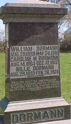 DORMANN, CAROLINE - Wayne County, Nebraska | CAROLINE DORMANN - Nebraska Gravestone Photos