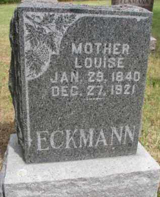 ECKMANN, LOUISE - Wayne County, Nebraska | LOUISE ECKMANN - Nebraska Gravestone Photos