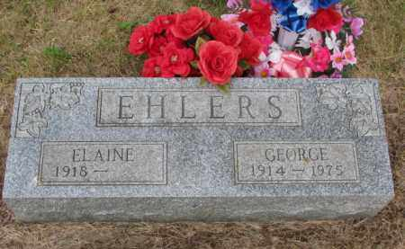 EHLERS, GEORGE - Wayne County, Nebraska | GEORGE EHLERS - Nebraska Gravestone Photos