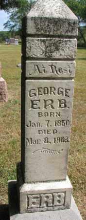 ERB, GEORGE - Wayne County, Nebraska | GEORGE ERB - Nebraska Gravestone Photos