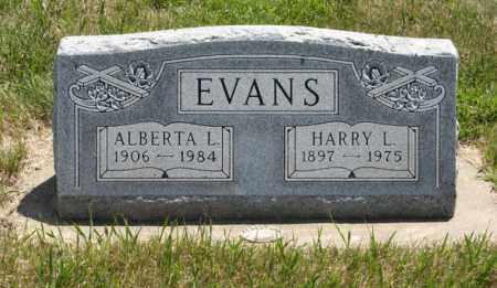 EVANS, ALBERTA L. - Wayne County, Nebraska | ALBERTA L. EVANS - Nebraska Gravestone Photos