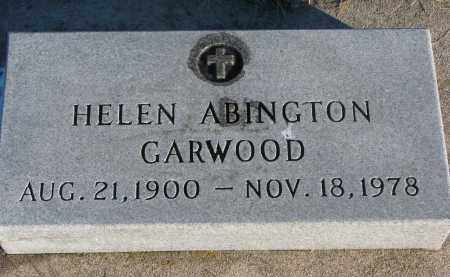 ABINGTON GARWOOD, HELEN - Wayne County, Nebraska | HELEN ABINGTON GARWOOD - Nebraska Gravestone Photos