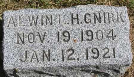 GNIRK, ALWIN L.H. - Wayne County, Nebraska | ALWIN L.H. GNIRK - Nebraska Gravestone Photos