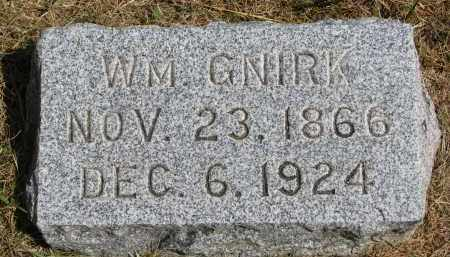 GNIRK, WM. - Wayne County, Nebraska | WM. GNIRK - Nebraska Gravestone Photos
