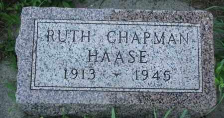 CHAPMAN HAASE, RUTH - Wayne County, Nebraska   RUTH CHAPMAN HAASE - Nebraska Gravestone Photos
