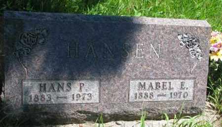 HANSEN, HANS P. - Wayne County, Nebraska | HANS P. HANSEN - Nebraska Gravestone Photos