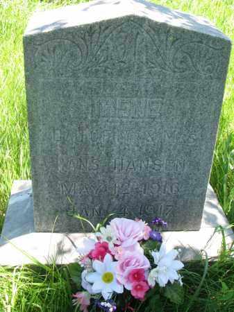 HANSEN, IRENE - Wayne County, Nebraska | IRENE HANSEN - Nebraska Gravestone Photos