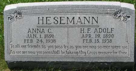 HESEMANN, ANNA C. - Wayne County, Nebraska   ANNA C. HESEMANN - Nebraska Gravestone Photos