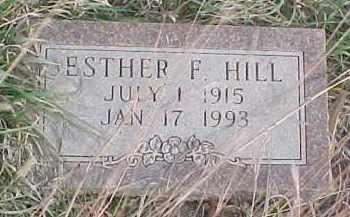 HILL, ESTHER F. - Wayne County, Nebraska   ESTHER F. HILL - Nebraska Gravestone Photos
