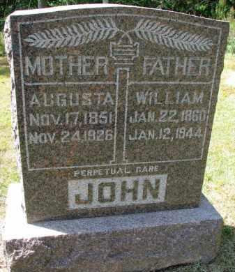 JOHN, AUGUSTA - Wayne County, Nebraska | AUGUSTA JOHN - Nebraska Gravestone Photos