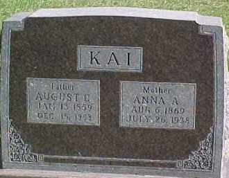 KAI, ANNA A. - Wayne County, Nebraska   ANNA A. KAI - Nebraska Gravestone Photos