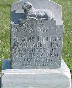 KAI, ELAINE LILLIAN - Wayne County, Nebraska | ELAINE LILLIAN KAI - Nebraska Gravestone Photos