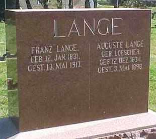 LANGE, AUGUSTE - Wayne County, Nebraska   AUGUSTE LANGE - Nebraska Gravestone Photos