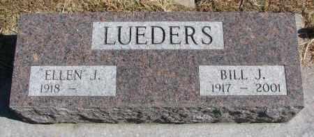 LUEDERS, BILL J. - Wayne County, Nebraska   BILL J. LUEDERS - Nebraska Gravestone Photos
