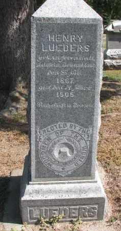 LUEDERS, HENRY - Wayne County, Nebraska | HENRY LUEDERS - Nebraska Gravestone Photos