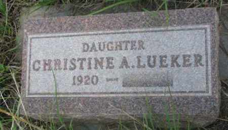 LUEKER, CHRISTINE A. - Wayne County, Nebraska | CHRISTINE A. LUEKER - Nebraska Gravestone Photos