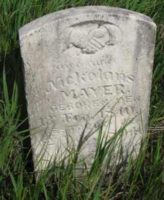 MAYER, NICKOLANS - Wayne County, Nebraska   NICKOLANS MAYER - Nebraska Gravestone Photos