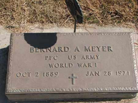 MEYER, BERNARD A. - Wayne County, Nebraska | BERNARD A. MEYER - Nebraska Gravestone Photos