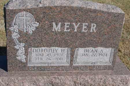 MEYER, DOROTHY H. - Wayne County, Nebraska | DOROTHY H. MEYER - Nebraska Gravestone Photos