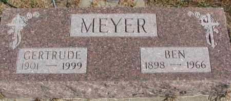 MEYER, BEN - Wayne County, Nebraska | BEN MEYER - Nebraska Gravestone Photos