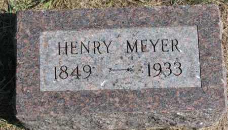 MEYER, HENRY - Wayne County, Nebraska | HENRY MEYER - Nebraska Gravestone Photos