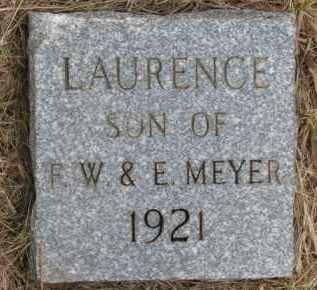 MEYER, LAURENCE - Wayne County, Nebraska | LAURENCE MEYER - Nebraska Gravestone Photos